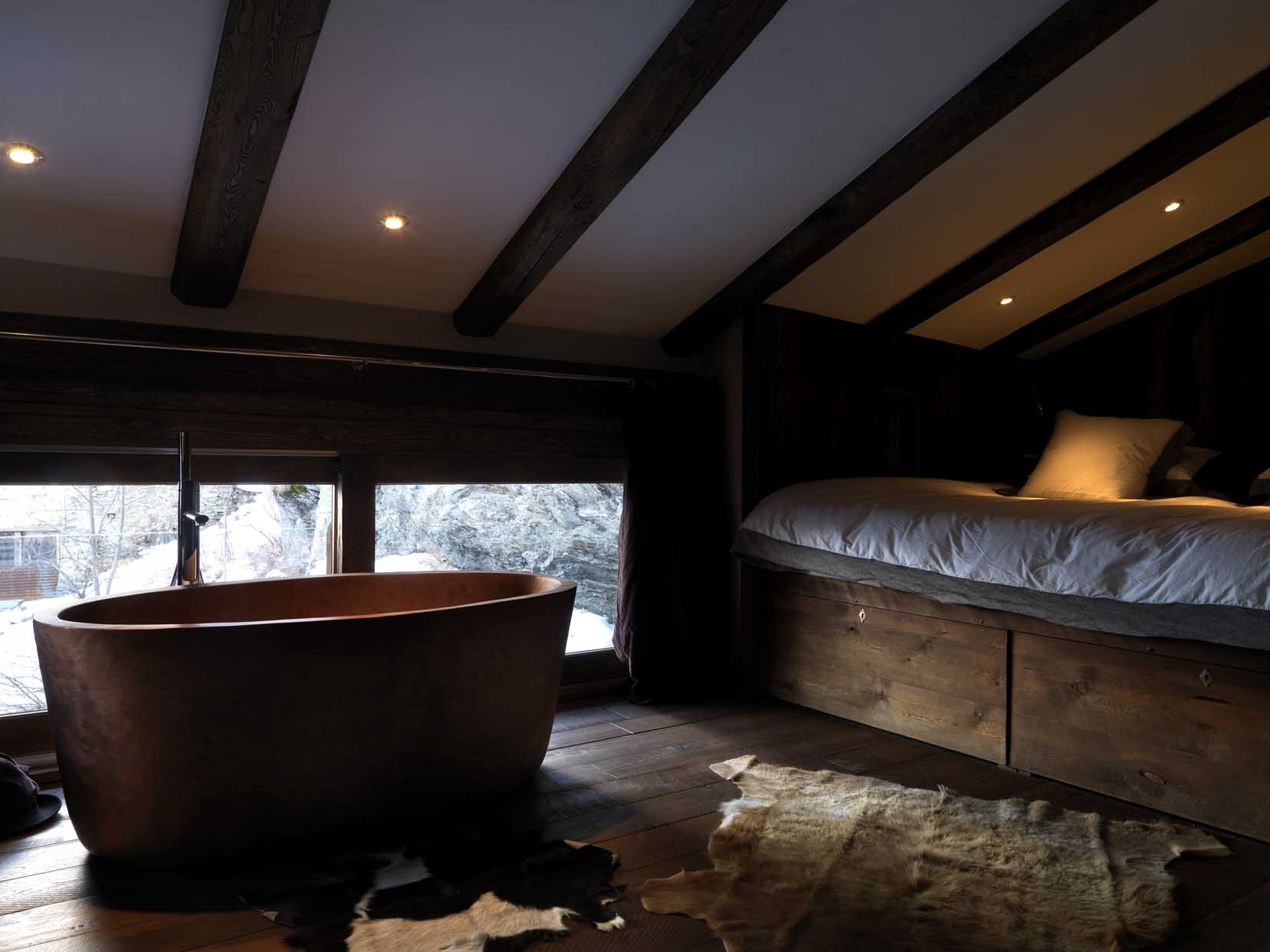 Bedroom 5 with copper bath tub